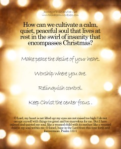 how to cultivate a quiet soul